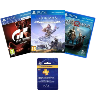 PlayStation®4 slim + 3 игри + 3 месеца PS Plus